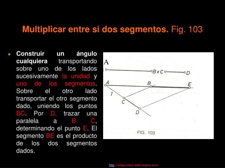 Multiplicar entre si dos segmentos.