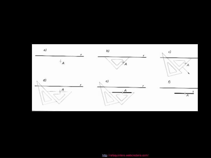 Trazado de paralelas con escuadra y cartabón