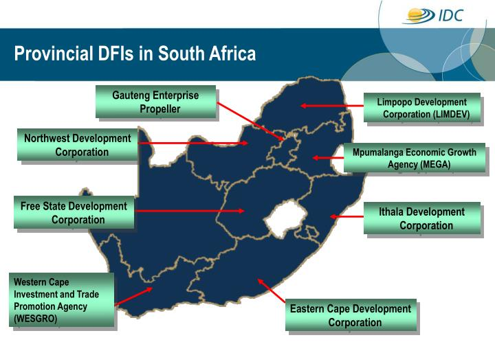 Provincial DFIs in South Africa