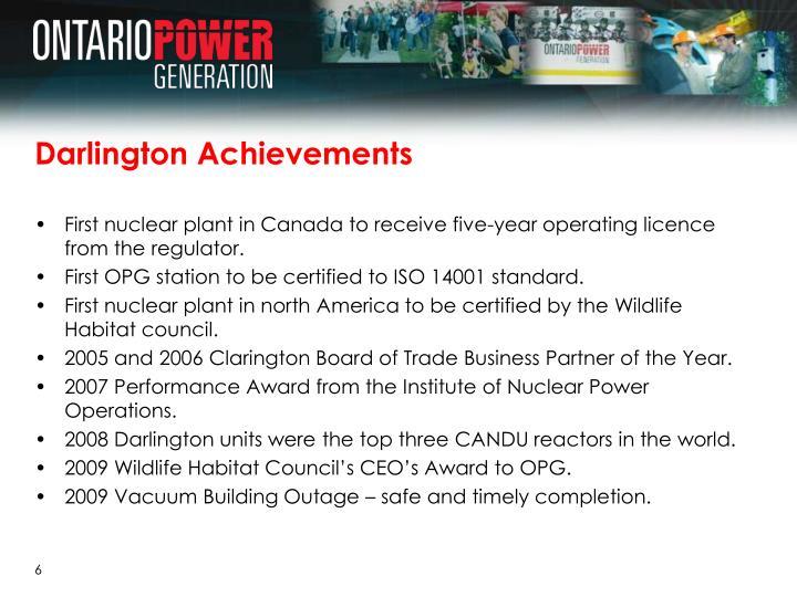 Darlington Achievements