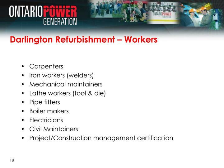 Darlington Refurbishment – Workers