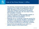 role of the prime minister s office