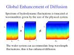 global enhancement of diffusion