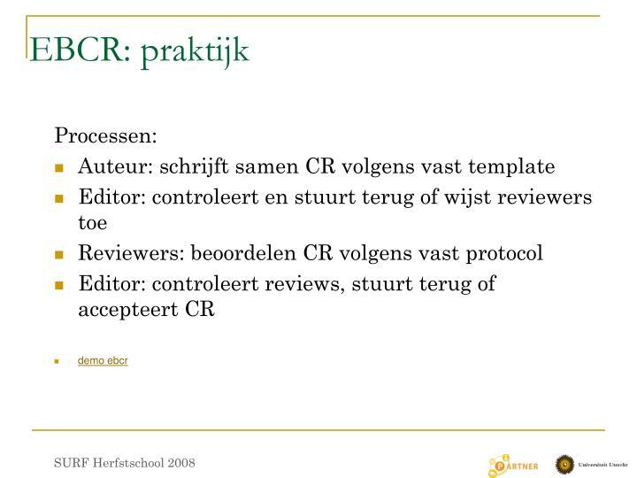 EBCR: praktijk