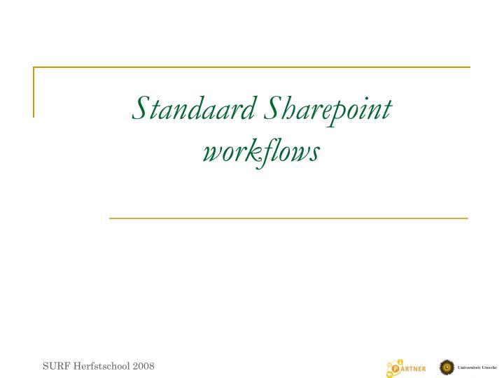 Standaard Sharepoint