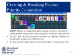 creating breaking patches priority connection