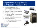 requirements capabilities acu family raytheon jps