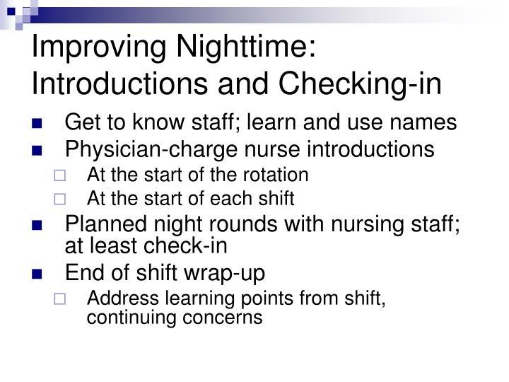 Improving Nighttime: