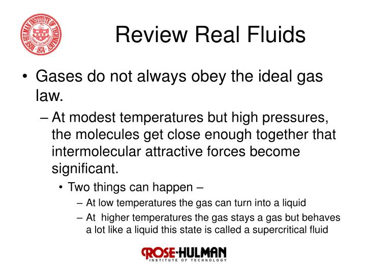 Review real fluids