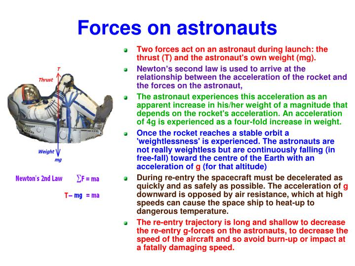 Forces on astronauts