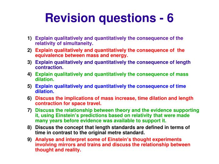 Revision questions - 6
