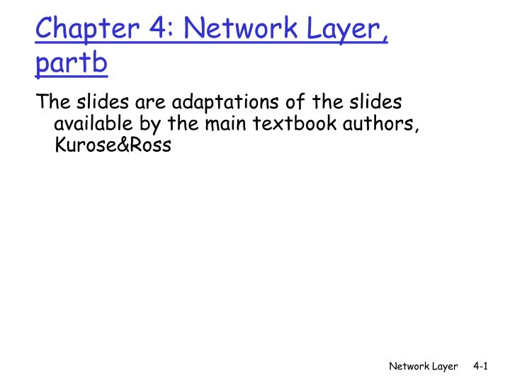 Chapter 4 network layer partb