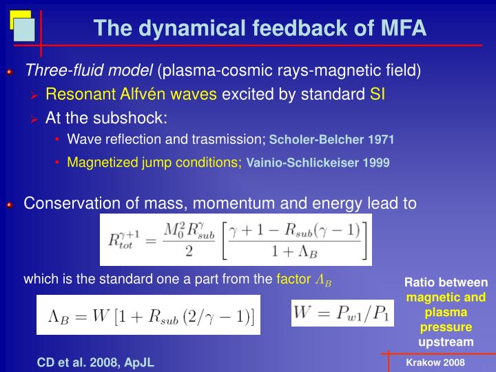 The dynamical feedback of MFA