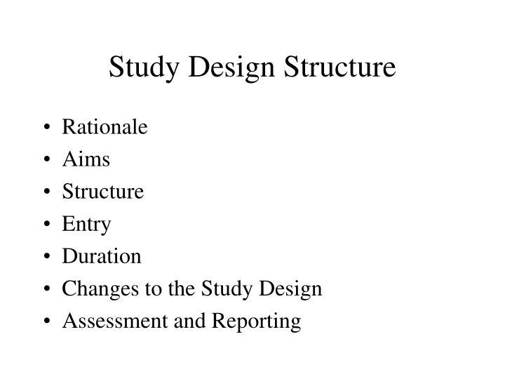 Study Design Structure