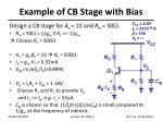 example of cb stage with bias