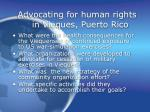 advocating for human rights in vieques puerto rico