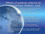 effects of political violence on palestinian children cont