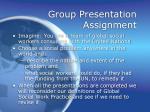 group presentation assignment