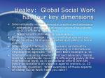 healey global social work has four key dimensions