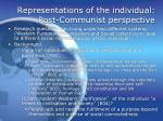 representations of the individual post communist perspective
