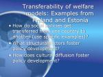 transferability of welfare models examples from finland and estonia