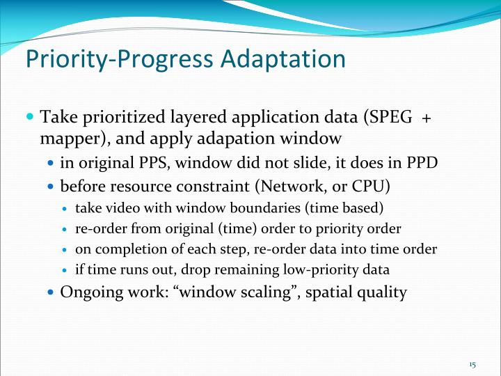 Priority-Progress Adaptation