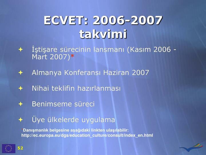 ECVET: 2006-2007