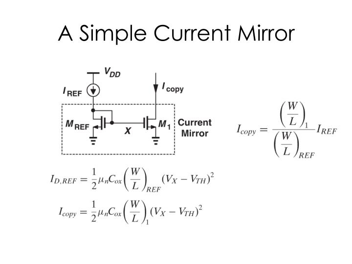A simple current mirror