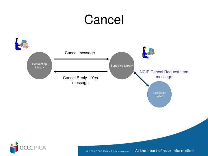 Cancel message