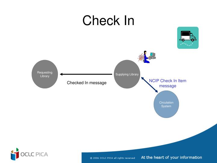 NCIP Check In Item message