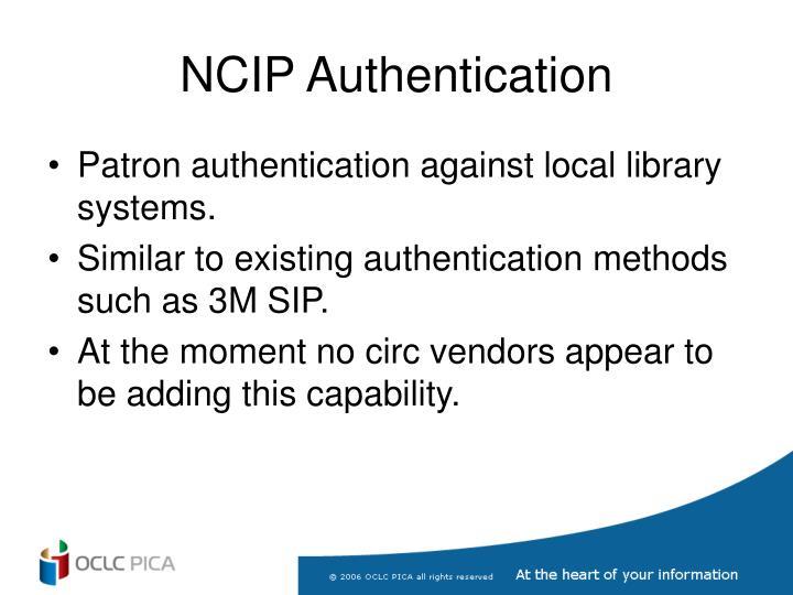 NCIP Authentication