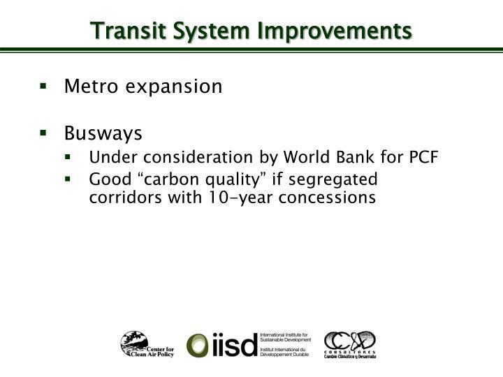 Transit System Improvements