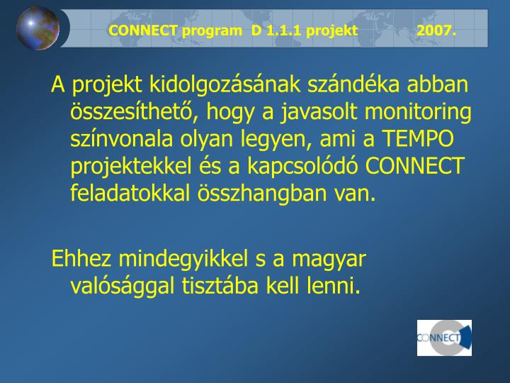 Connect program d 1 1 1 projekt 20071