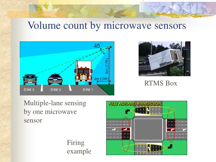 Volume count by microwave sensors