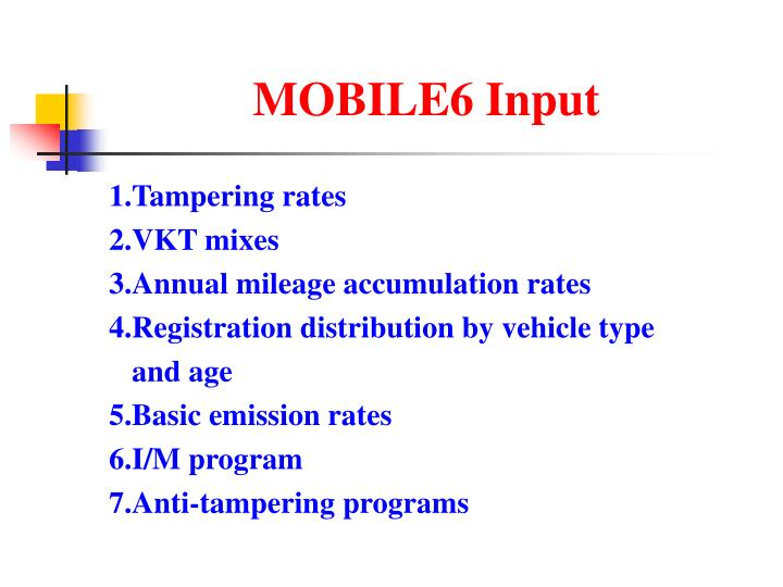 MOBILE6 Input