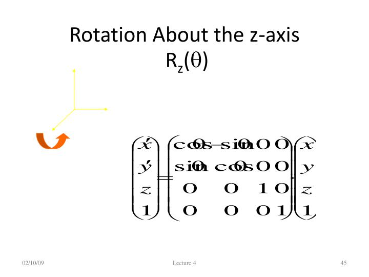 Rotation About the z-axis