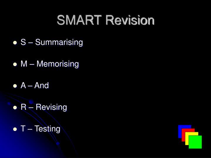 Smart revision