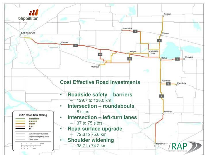 Cost Effective Road Investments