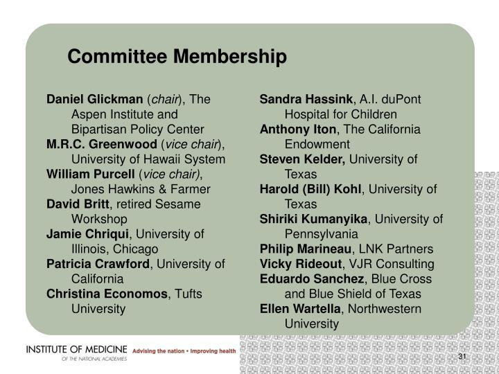 Committee Membership
