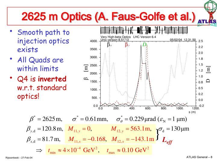 2625 m Optics (A. Faus-Golfe et al.)