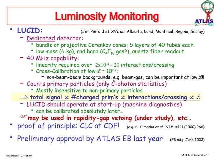 Luminosity Monitoring