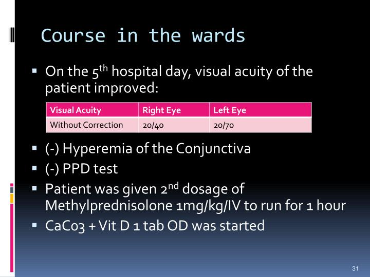 Course in the wards