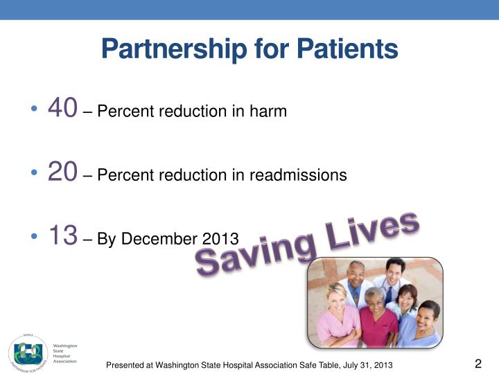 Partnership for patients