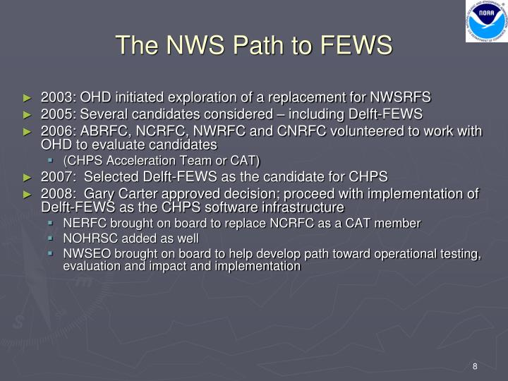 The NWS Path to FEWS