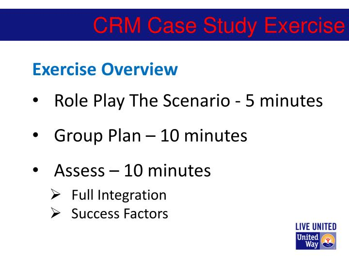 CRM Case Study Exercise