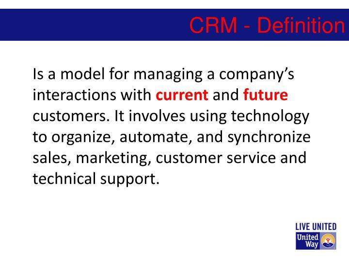 CRM - Definition