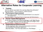 alternative roles for corporate learning