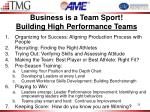 business is a team sport building high performance teams