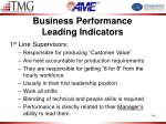 business performance leading indicators