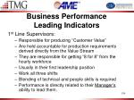 business performance leading indicators1